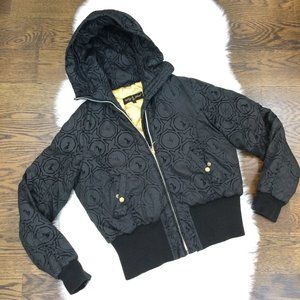 Baby Phat Hooded Quilted Lined Bomber Jacket L